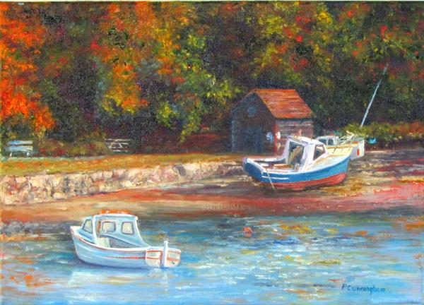 Autumn in Helford by Patricia Cunningham