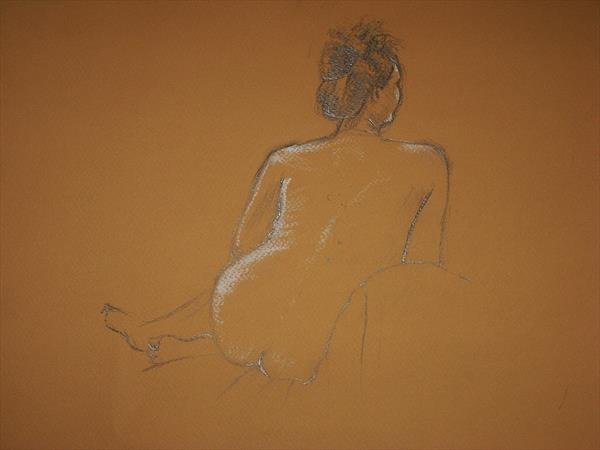 Seated Female Nude by adrian parker