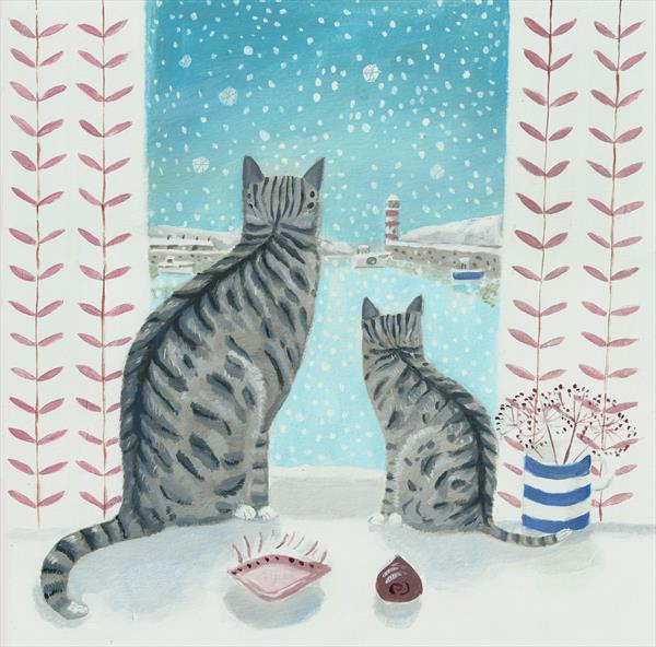 Cats by the window by Mary Stubberfield