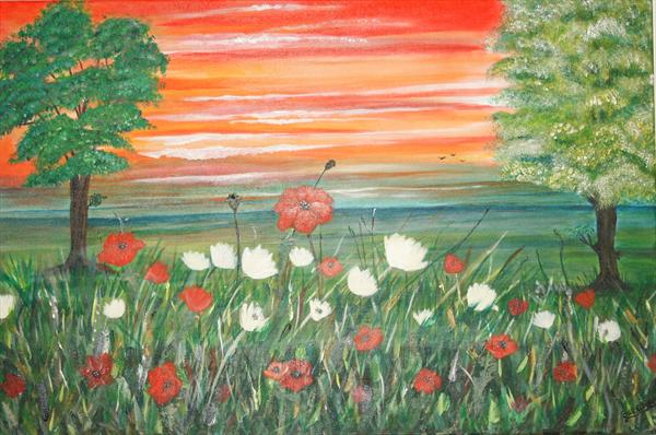 Poppies At Sunset by Susan Cook