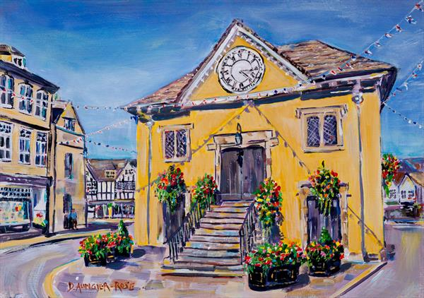 SUMMER AFTERNOON, TETBURY MARKET HALL by Diana Aungier - Rose