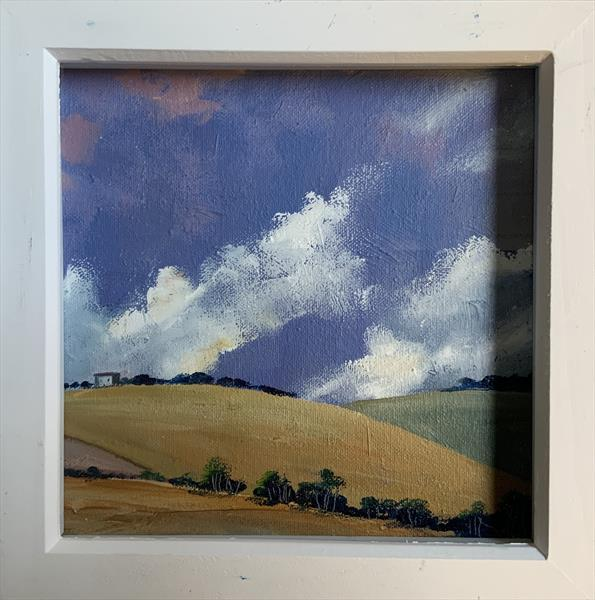 This is summer ( framed original oil ) by Sarah Gill