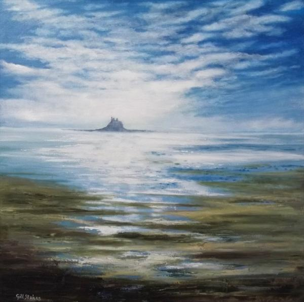 Lindisfarne, Low Tide by Gill Stokes