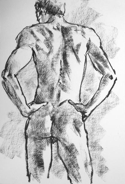 Athletic Male Nude by Peter Kavanagh