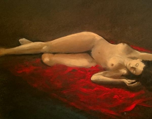 Lady in Red by Alan  Harris