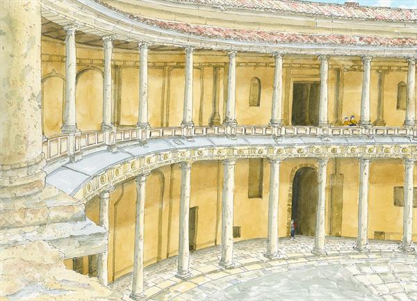 Palace of Charles V at Alhambra by Peter Blake