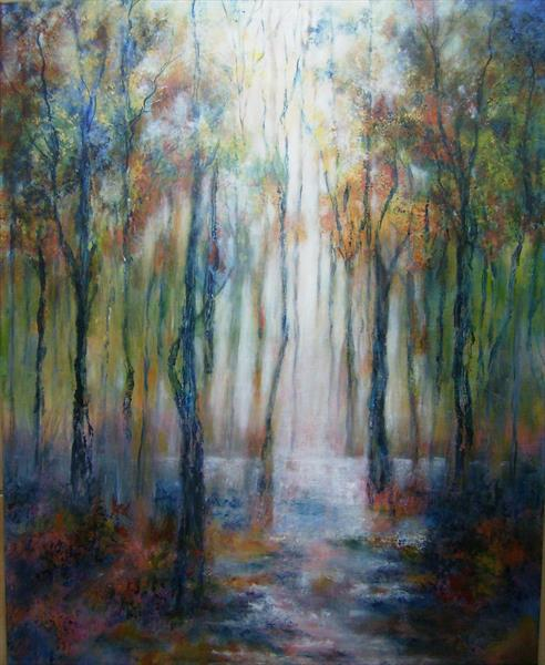 Tranquillity in the woods by Jill Lloyd