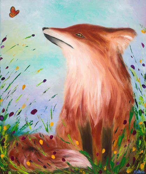 The fox and the butterfly  by Kelly  White