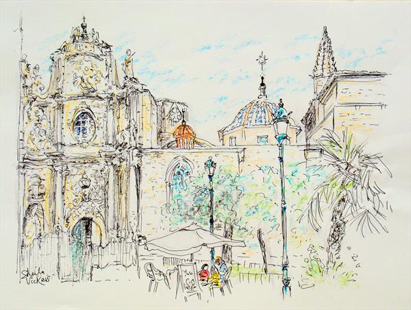 Valencia Cathedral And Basilica by Sheila Vickers