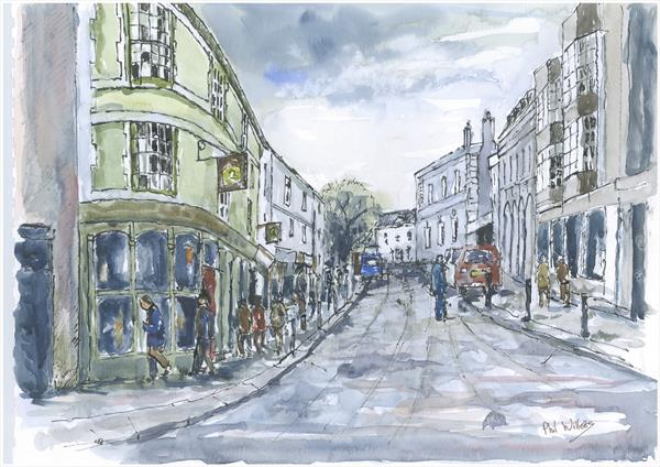 Falmouth looking towards Killigrew St on Market St by Phil Willetts