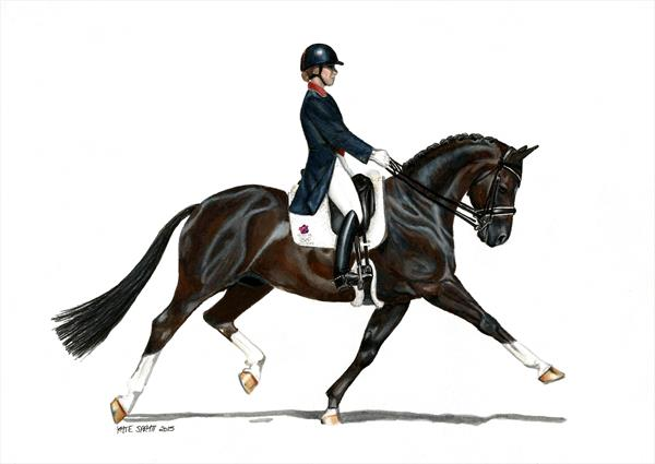 More Than Lucky Breeches (Charlotte Dujardin & Valegro at the London Olympic games) by Kate Spratt