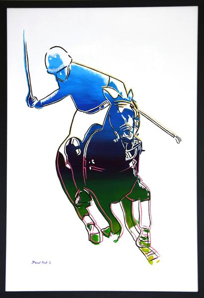 Polo Player - Andy Warhol by Daniel Read