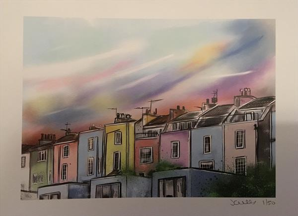 Hotwells Houses - Digital Art Print by John Curtis