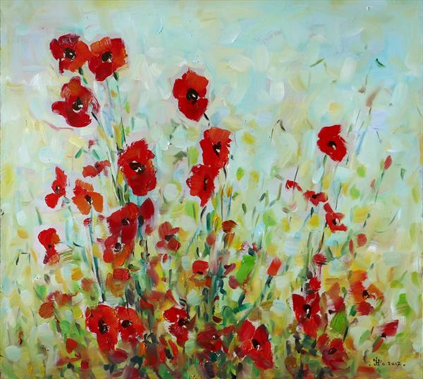Field Poppies by Ioan Popei