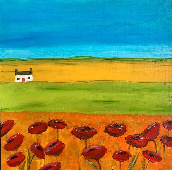 SUMMER FIELD OF POPPIES  by Caroline Duncan