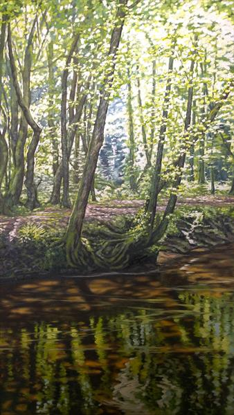 Woodland Reflections #2 by Nancy Robertson