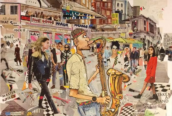 Busking at Covent Garden by Keith Mcbride