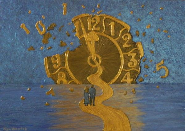 Lost in Time - voyage in time painting by Liza Wheeler