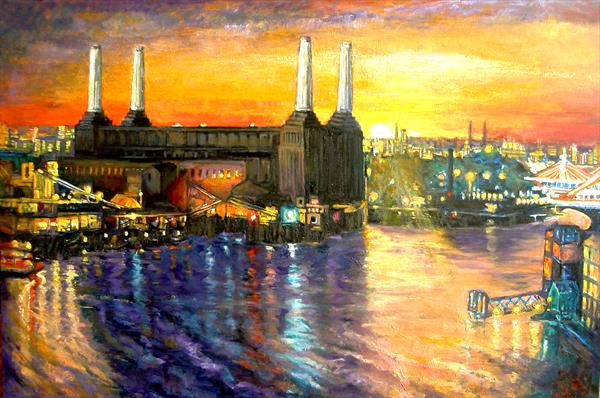New Battersea Power Station Sunset by Patricia Clements