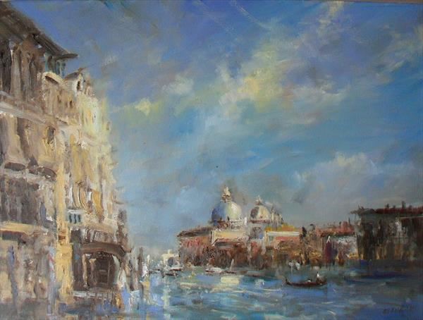 Sun And Shade. The Grand Canal by Martin Ulbricht