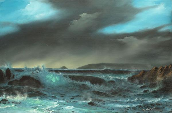 Stormy Cove 2 by Alan Kingwell