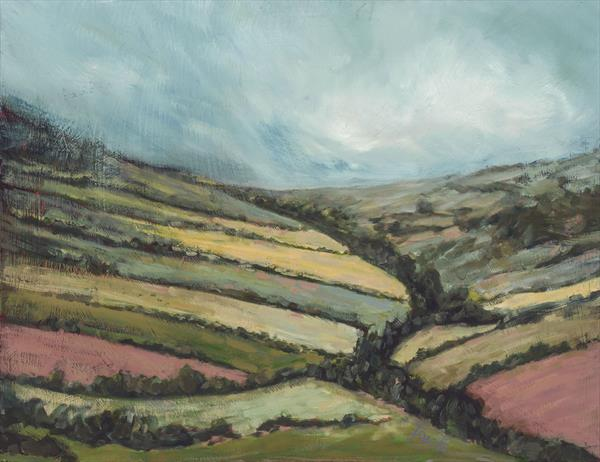 Rain on the Plain (Yorkshire) Limited edition giclee by Tracey Pacitti