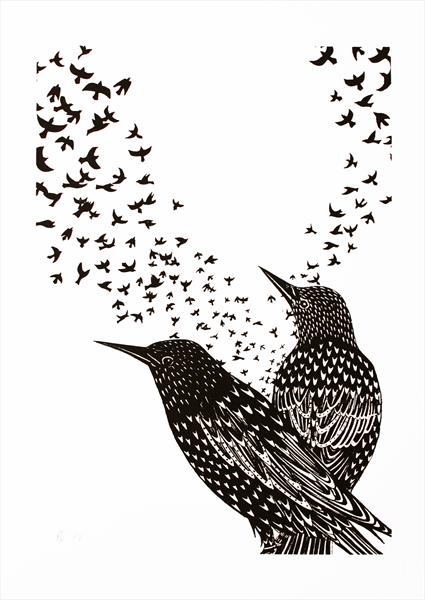Starlings by Kathryn Edwards