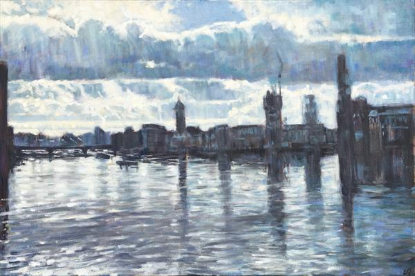 Thames Blue by Louise Gillard