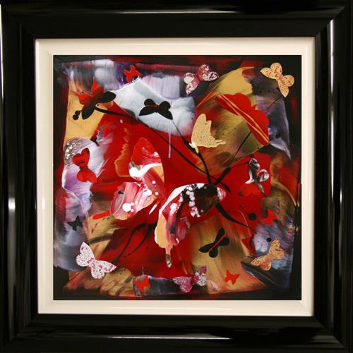 Sunny day of summer I (butterfly collage) On Display at Athe Art Gallery Tetbury by Paresh Nrshinga