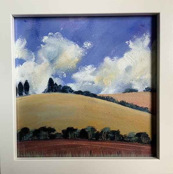 The Brightside of the Hill ( framed original oil) by Sarah Gill