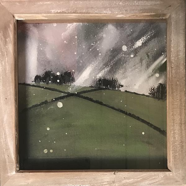 Falling seeds of rain - A squall over the Peak District  by Sarah Gill