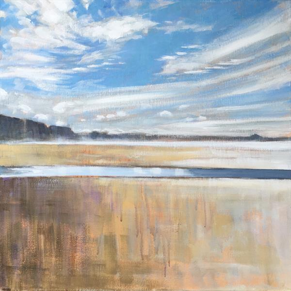 Watergate Bay impressions - Cornwall painting by Louise Gillard