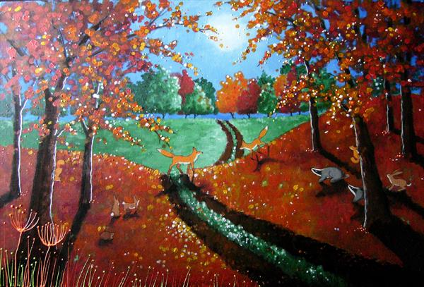 Autumn Moonlight by Angie Livingstone