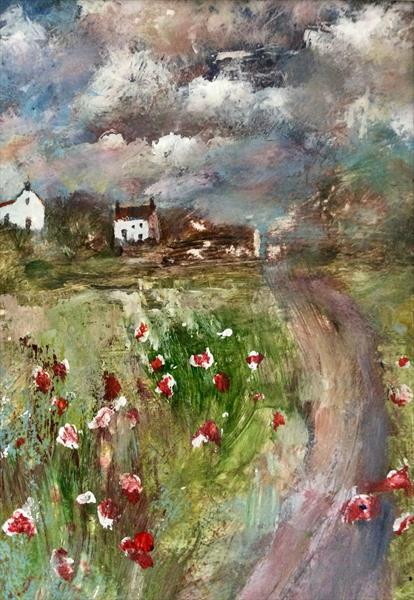 DOWN POPPY LANE  by Roma Mountjoy
