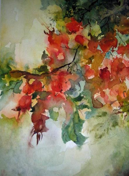 Rose hips by Pat Knight