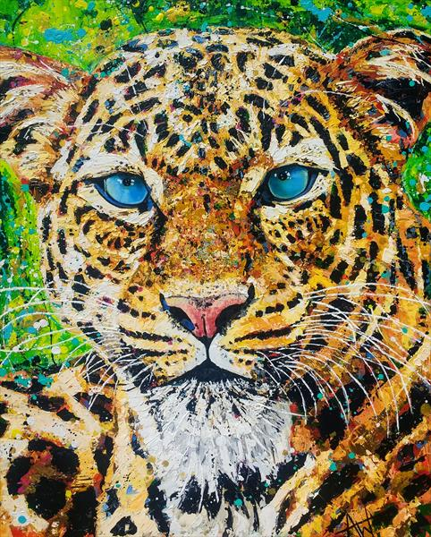 Jungle cat by Angie Wright