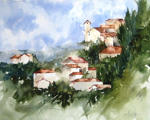 Across the Tuscan Hills(Commission) by Tracey Waghorn