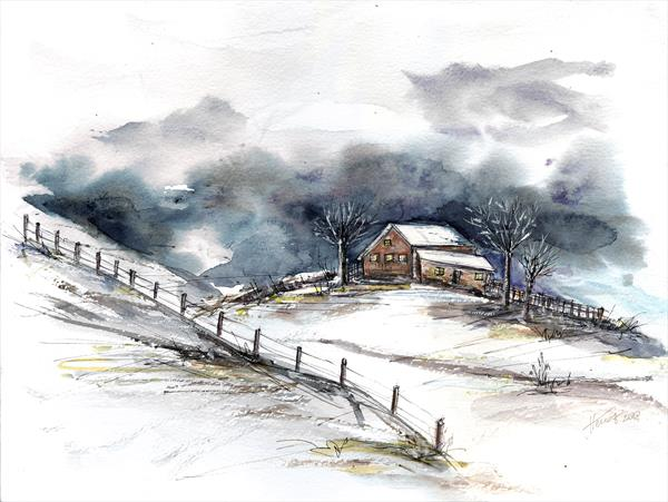 Winter clouds by Aniko Hencz