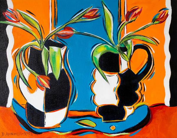 DANCE OF THE TULIPS by Diana Aungier - Rose