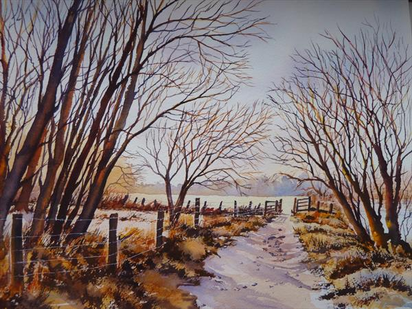 Country walk in the winter by Gill Michael