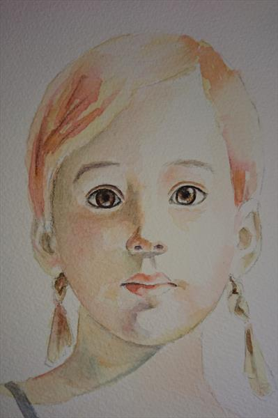 Tinkerbell Study. in the image of Ali Cavanaugh, little girl portrait A4 by Elena Haines
