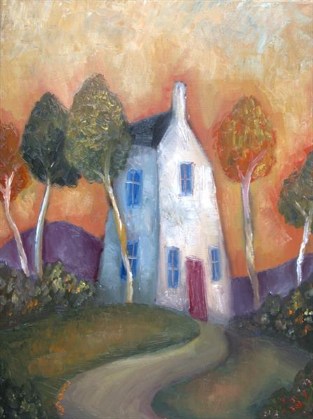 Tall Cottage and trees by Jeremy Mayes