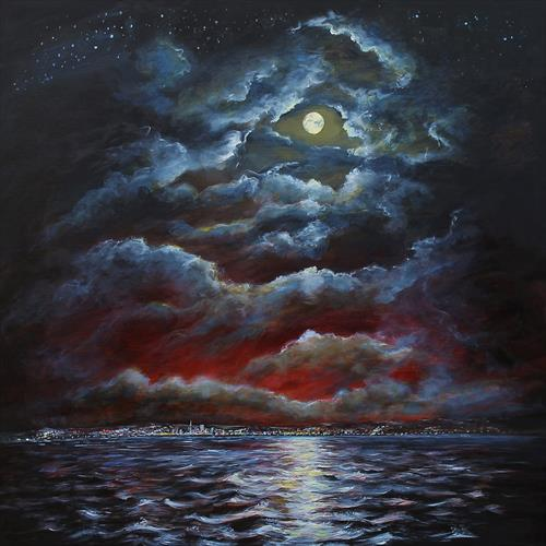 Moonlight over Harbour Lights by Sandra Francis