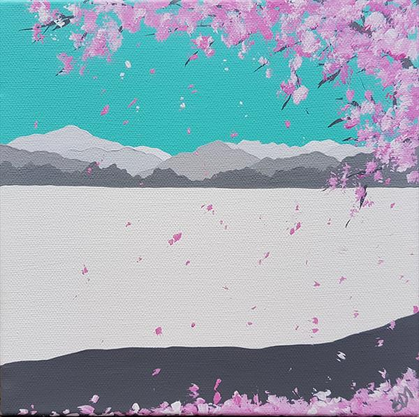 Cherry blossom in Ambleside, The Lake District by Sam Martin