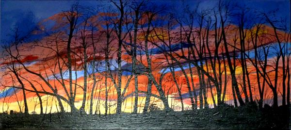 Sunset Trees by Alice P Jenkins