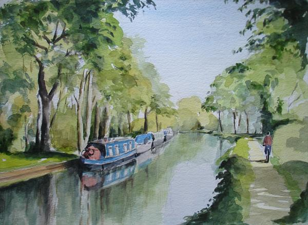 Tranquility, Wey Navigation by Mike Livesey