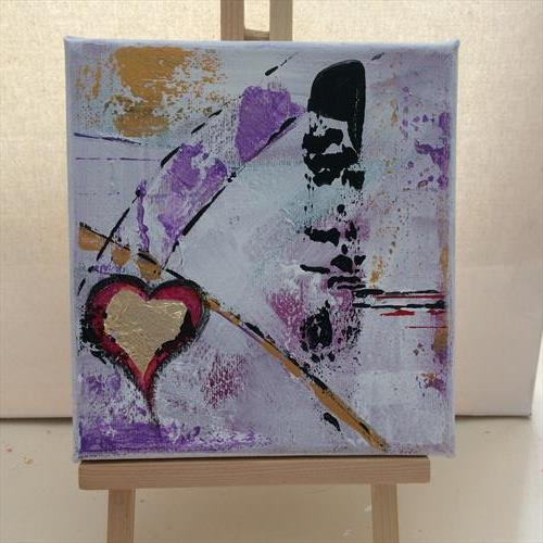 Heart Abstract by Rosie Cunningham