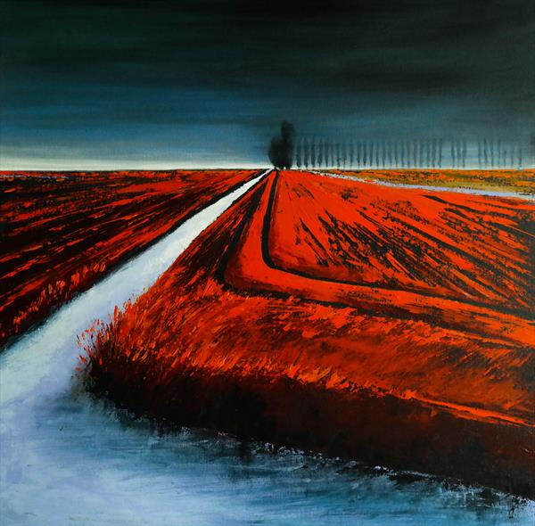 The Lines and the Storm - Fields and Colors Series by Danijela  Dan