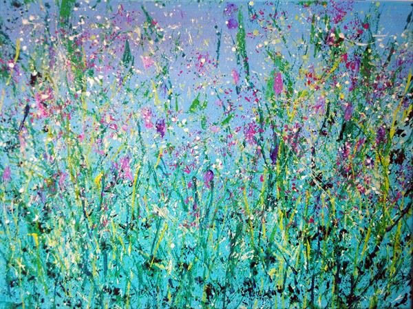 Meadow Flowers Abstract by Stephanie Wheeler
