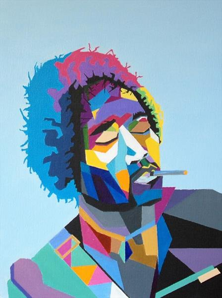 Abstract Jimi Hendrix by Andrew Snee